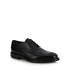 Loake - Black leather 'Acton' derby shoes