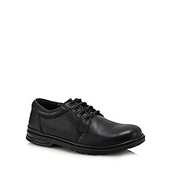 Hush Puppies - Black leather 'George Hanston' Oxford shoes