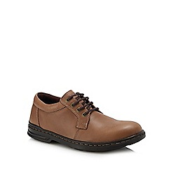 Hush Puppies - Light brown leather 'George Hanston' Oxford shoes