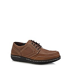 Hush Puppies - Light brown leather 'Volley Victory' Oxford shoes