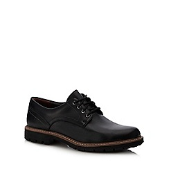 Clarks - Black leather 'Batcombe Hall' lace up shoes