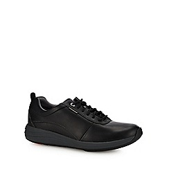 Clarks - Black leather 'Un Coast' trainers