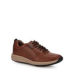 Clarks - Dark tan leather 'Un Coast' trainers