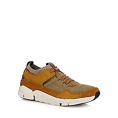 Clarks - Tan 'Tri Active Up' trainers