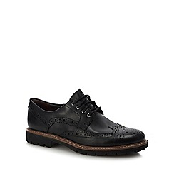 Clarks - Black leather 'Batcombe' brogues