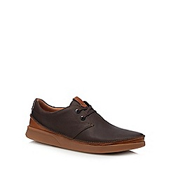 Clarks - Dark brown leather 'Oakland Rise' chukka shoes