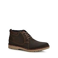 Clarks - Brown leather 'Vargo' chukka boots