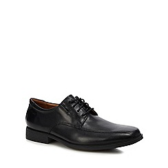 Clarks - Black leather 'Tilden walk' lace up shoes