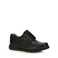 Clarks - Black leather 'Trace Ramble' lace up boots