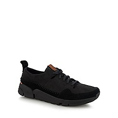 Clarks - Black nubuck 'Triactive Run' trainers