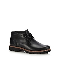 Clarks - Black leather 'batcombe lo' chukka boots