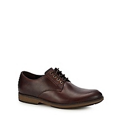 Clarks - Brown leather 'Hinman' lace up shoes