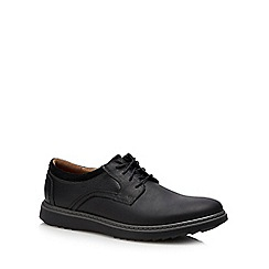 Clarks - Black leather 'Un Geo' lace up shoes