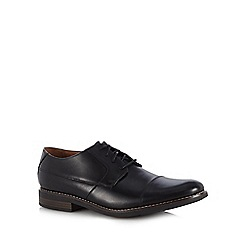 Clarks - Black leather 'Becken Cap' Derby shoes