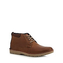 Clarks - Dark tan leather 'Vargo' chukka boots