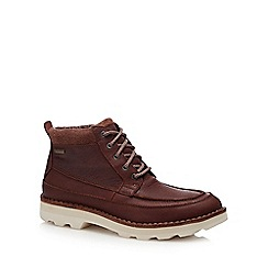 Clarks - Tan leather 'Korik' lace up boots