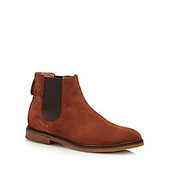 Clarks - Brown suede 'Clarkdale Gobi' Chelsea boots