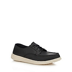 Skechers - Black leather 'Status - Lerado' lace up shoes
