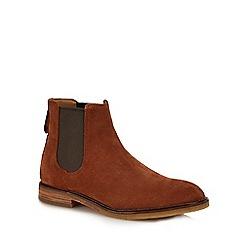 Clarks - Dark tan Suede 'Clarkdale Gobi' Chelsea boots