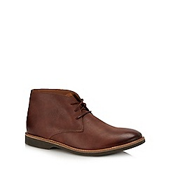 Clarks - Dark brown leather 'Atticus Limit' desert boots