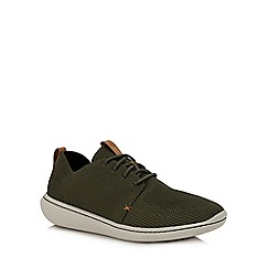 Clarks - Khaki knit 'Step Urban' trainers