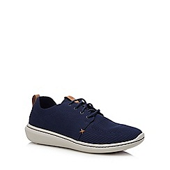 Clarks - Navy knit 'Step Urban' trainers