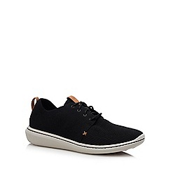 Clarks - Black knit 'Step Urban' trainers