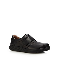 Clarks - Black leather 'un abode strap' shoes