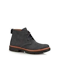 Clarks - Dark grey nubuck 'trace flare' lace up boots