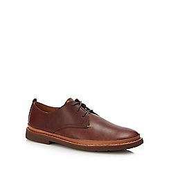 Clarks - Dark brown leather 'Trace Tailor' Derby shoes