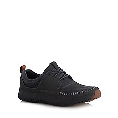 Clarks - Dark grey 'Aiston Walk' shoes
