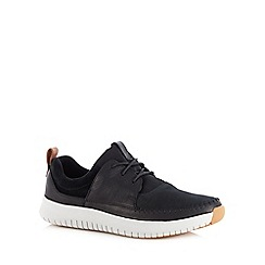 Clarks - Black 'Aiston Walk' shoes