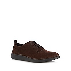 Clarks - Dark brown nubuck 'Hale Lace' shoes