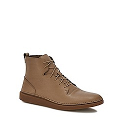 Clarks - Tan leather 'Hale Rise' lace up boots