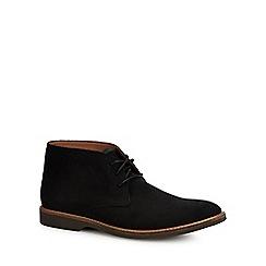Clarks - Black nubuck 'Atticus' desert boots