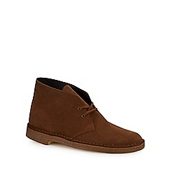 Clarks - Chocolate brown suede desert boots