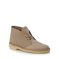 Clarks - Natural suede desert boots