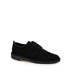 Clarks - Black Suede 'Desert London' Desert Shoes