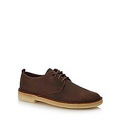 Clarks - Brown leather 'Desert London' desert shoes