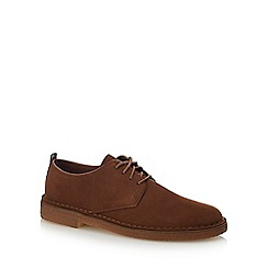 Clarks - Chocolate brown suede 'Desert London' desert shoes