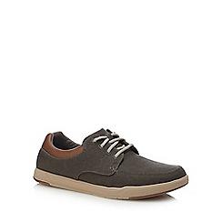 Clarks - Khaki canvas 'Step Isle' lace up shoes
