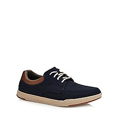 Clarks - Navy canvas 'Step Isle' lace up shoes