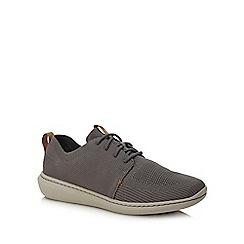Clarks - Dark grey knit 'Step Urban' trainers