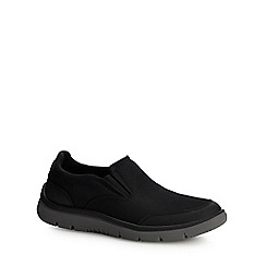 Clarks - Black mesh 'Tunsil Step' slip-on shoes