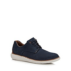 Clarks - Navy nubuck 'Un Voyage' Derby shoes