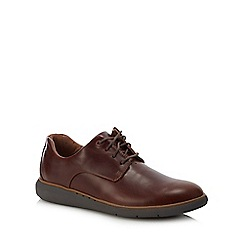 Clarks - Dark brown leather 'Un Voyage' Derby shoes