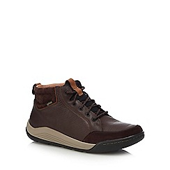 Clarks - Dark brown 'Ashcombe' lace up boots