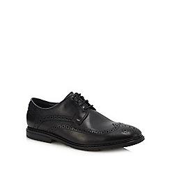 Clarks - Black leather 'Banbury' brogues