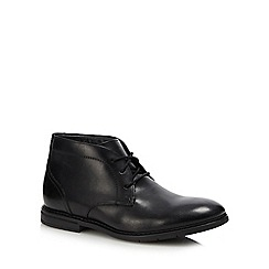 Clarks - Black leather 'Ban Bury' chukka boots