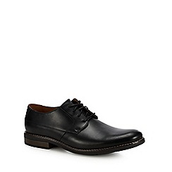 Clarks - Black leather 'Becken' Derby shoes